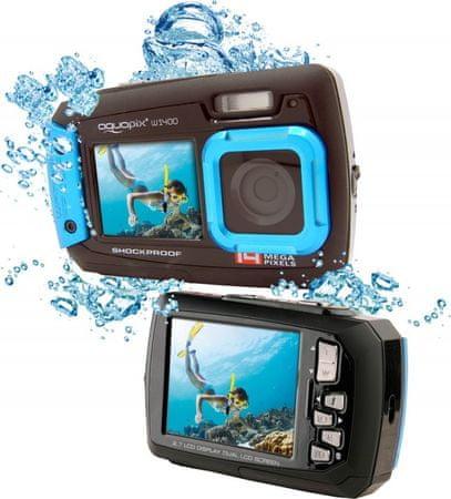 EasyPix W1400 Active Vízálló digitális fényképezőgép, Kék