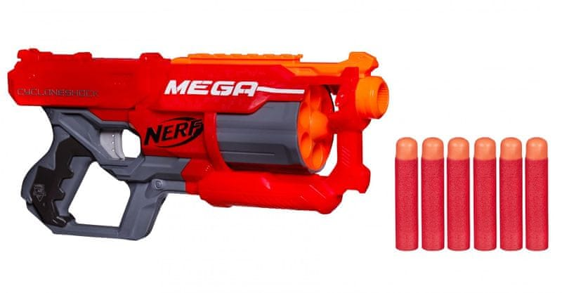 Nerf MEGA Cycloneshock s rotačník zásobníkem