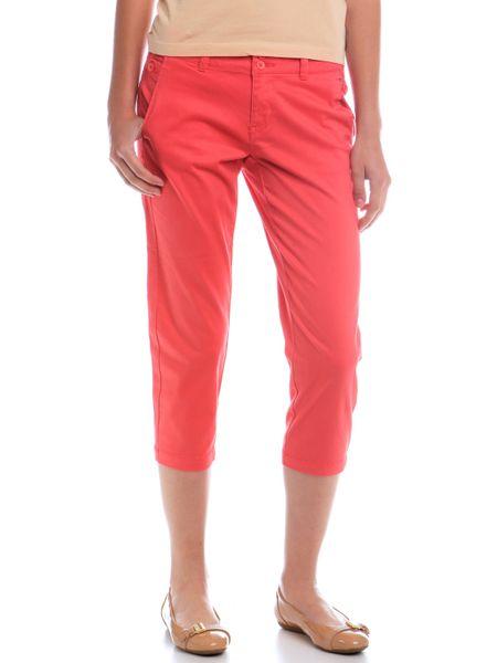 Timeout dámské jednobarevné 3/4 kalhoty 34 červená