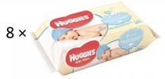 Huggies Chusteczki nawilżane Pure Quatro Pack 2x (4x56 szt.)