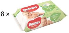 Huggies Chusteczki nawilżane Natural Care Quatro Pack 2× (4 × 56 szt.)