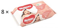 Huggies Chusteczki nawilżane Soft Skin Quatro Pack 2× (4×56 szt.)