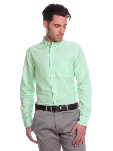 Chaps jednobarevná pánská košile XXL zelená