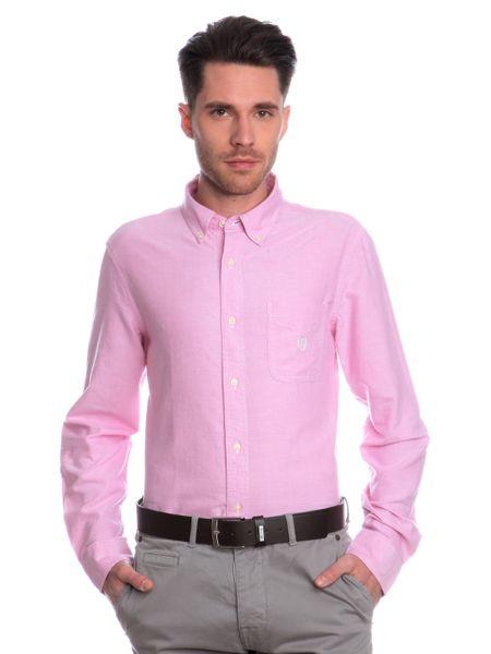 Chaps jednobarevná pánská košile XL růžová