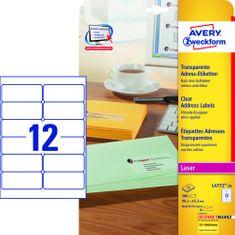 Avery Zweckform etikete L4772-25, 33,1 x 42,3 mm, prozorne, 25 listov