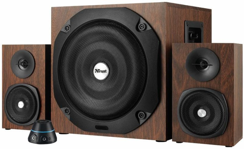 Trust Vigor 2.1 Subwoofer Speaker Set - brown (20244)