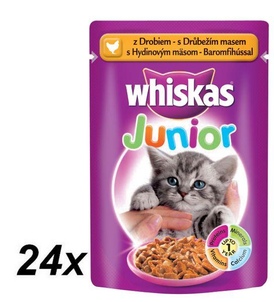 Whiskas JUNIOR s drůbežím masem ve šťávě 24 x 100g
