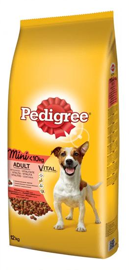 Pedigree hrana za odrasle pse manjših pasem, govedina, 12 kg