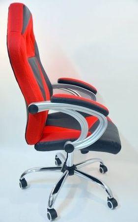 Pisarniški stol HY-8127, rdeče črn