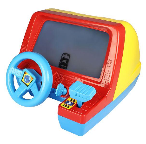 Let's play Dětský volant s obrazovkou modrý