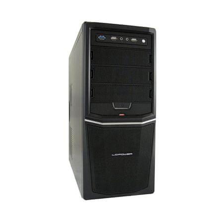 LC Power Midi ATX ohišje PRO-924B USB3.0 s 350W 80+ Bronze LC420-12 z napajalnikom