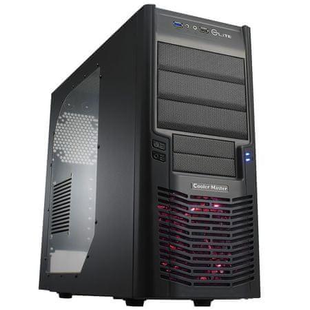 Cooler Master Midi ATX ohišje Elite 430 RC-430-KWN6 USB3.0, črno