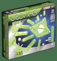 Geomag Foszforeszkáló mágneses építőjáték, 30 db