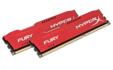 Kingston pomnilnik DDR3 HyperX FURY Red 8 GB kit (HX318C10FRK2/8)