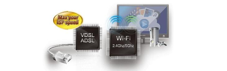 Dwa procesory zapewniające szybkie i stabilne połączenia