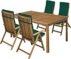 Fieldmann CALYPSO 4 kerti bútor szett, Zöld