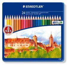 Staedtler barvice Noris Club, 24/1, kovinska embalaža