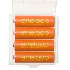 Panasonic Eneloop baterije AA (4 kosi), oranžne