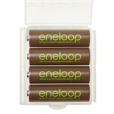 Panasonic Eneloop baterije AA (4 kosi), rjave