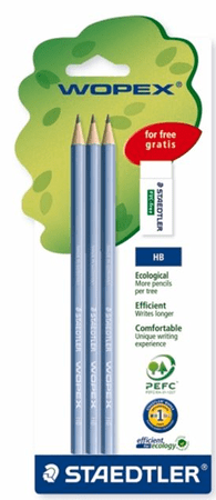 Staedtler svinčnik 180, 3/1 + radirka