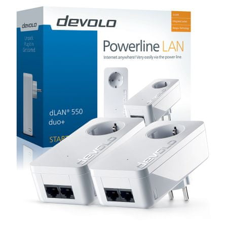 Devolo PLC dLAN® 550 duo + Starter Kit EU