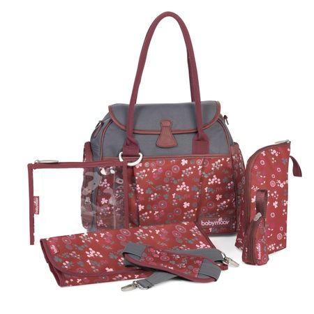 Babymoov previjalna torba Style Bag, Cherry