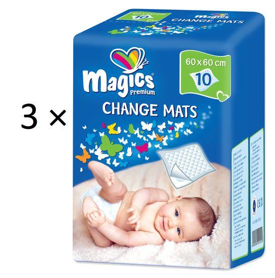 Magics Dětské přebalovací podložky - 3x10 ks
