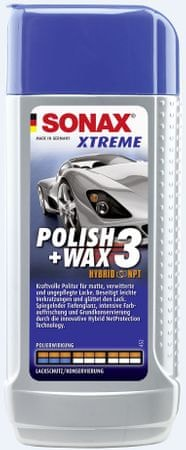 Sonax Xtreme politura + vosek Hibrid 3, 250 ml