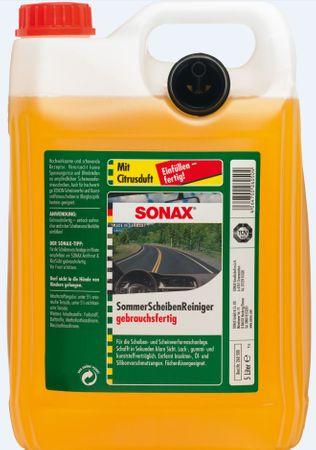 Sonax letno čistilo za vetrobransko steklo z vonjem limone, 5 l