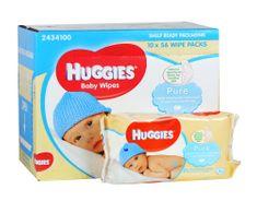 Huggies Vlhčené ubrousky Pure 10x56 ks