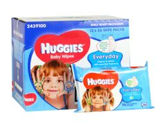 Huggies Vlhčené ubrousky Karton Everyday 12 x 56 ks