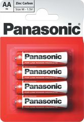 Panasonic AA 4ks Red Zinc (R6RZ/4BP)