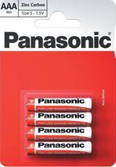 Panasonic AAA 4ks Red Zinc (R03RZ/4BP)