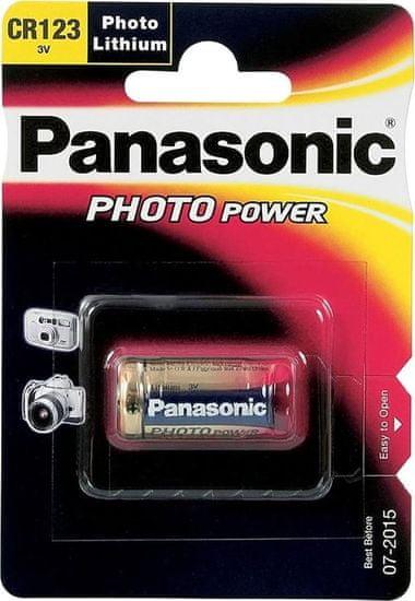 Panasonic baterija Lithium CR123AL, 3V, 1 kos