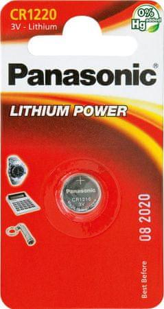 Panasonic Baterija Panasonic Lithium CR-1220L, 1 kos