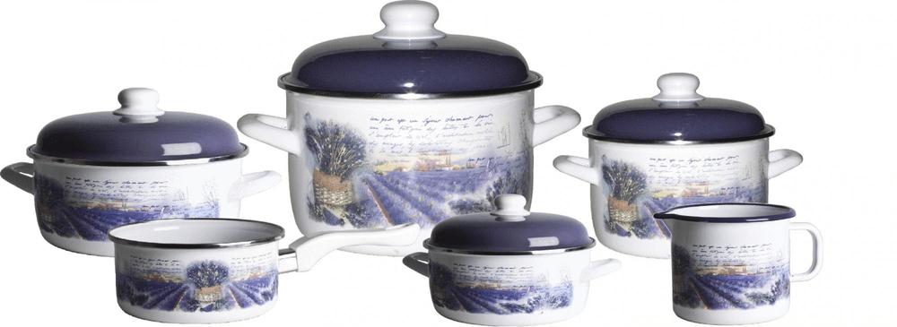 Metalac Sada nádobí levandule, 10 dílů