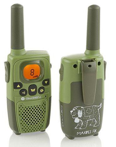 GoGEN Vysílačky MAXI Maxipes Fík, tmavě zelená barva - rozbaleno