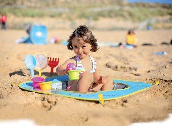 Ludi Składany basen do piasku z zabawkami 72x72x16 cm