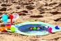 2 - Ludi Składany basen do piasku z zabawkami 72x72x16 cm