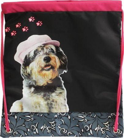 Vrečka za copate Rachael Hale, črno-roza