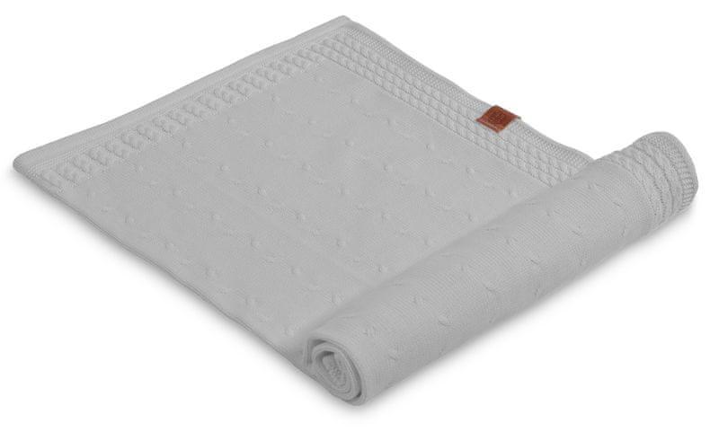 Petite&Mars Letní deka Kinky 70x80 cm, šedá
