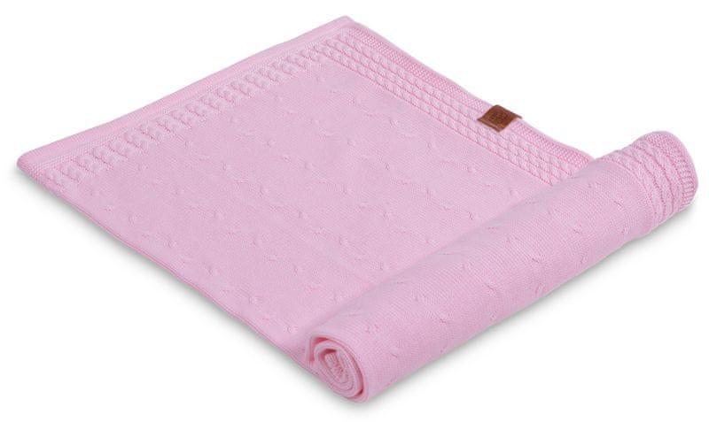 Petite&Mars Letní deka Kinky 70x80 cm, světle růžová