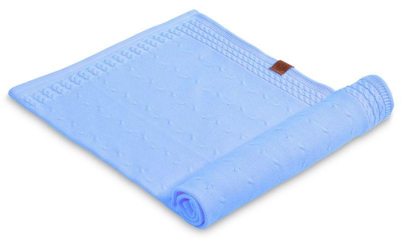 Petite&Mars Letní deka Kinky 70x80 cm, světle modrá