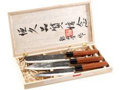 Ceramic Blade sada 3ks nožov ručne kovaných s drevenou rukoväťou