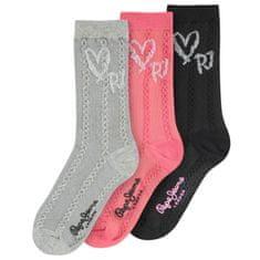 Pepe Jeans vícebarevný 3 Pack dámských ponožek Rose