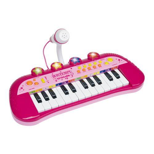 Bontempi Elektronické klávesy s mikrofonem růžové