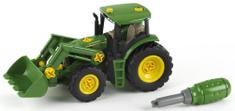 Klein Traktor z łyżką i zielonym śrubokrętem John Deere