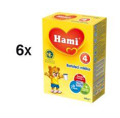 Hami 4 batolecí mléko - 6 × 500g + dárek