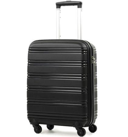 REAbags Cestovný kufor ROCK TR-0125/3-50 PP čierna