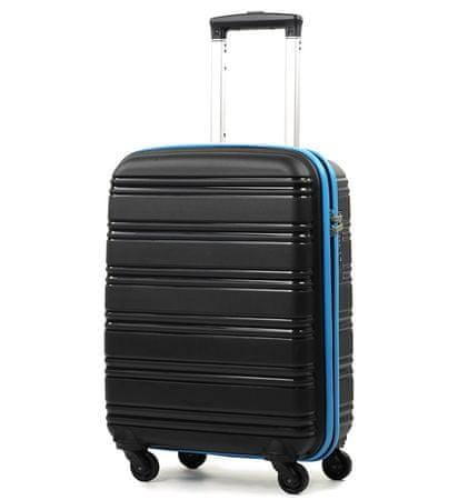 REAbags Cestovný kufor ROCK TR-0125/3-50 PP čierna/modrá